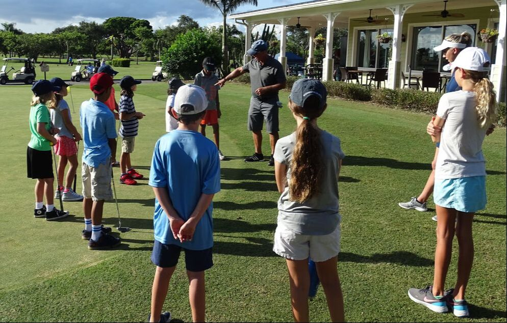 Glen Beaver discusses 9 Core Values with Homeschool Golf group at Village Golf Course